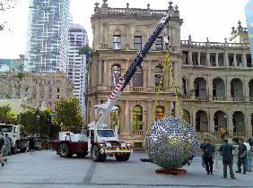 Brisbane Square's Sphere Sculpture